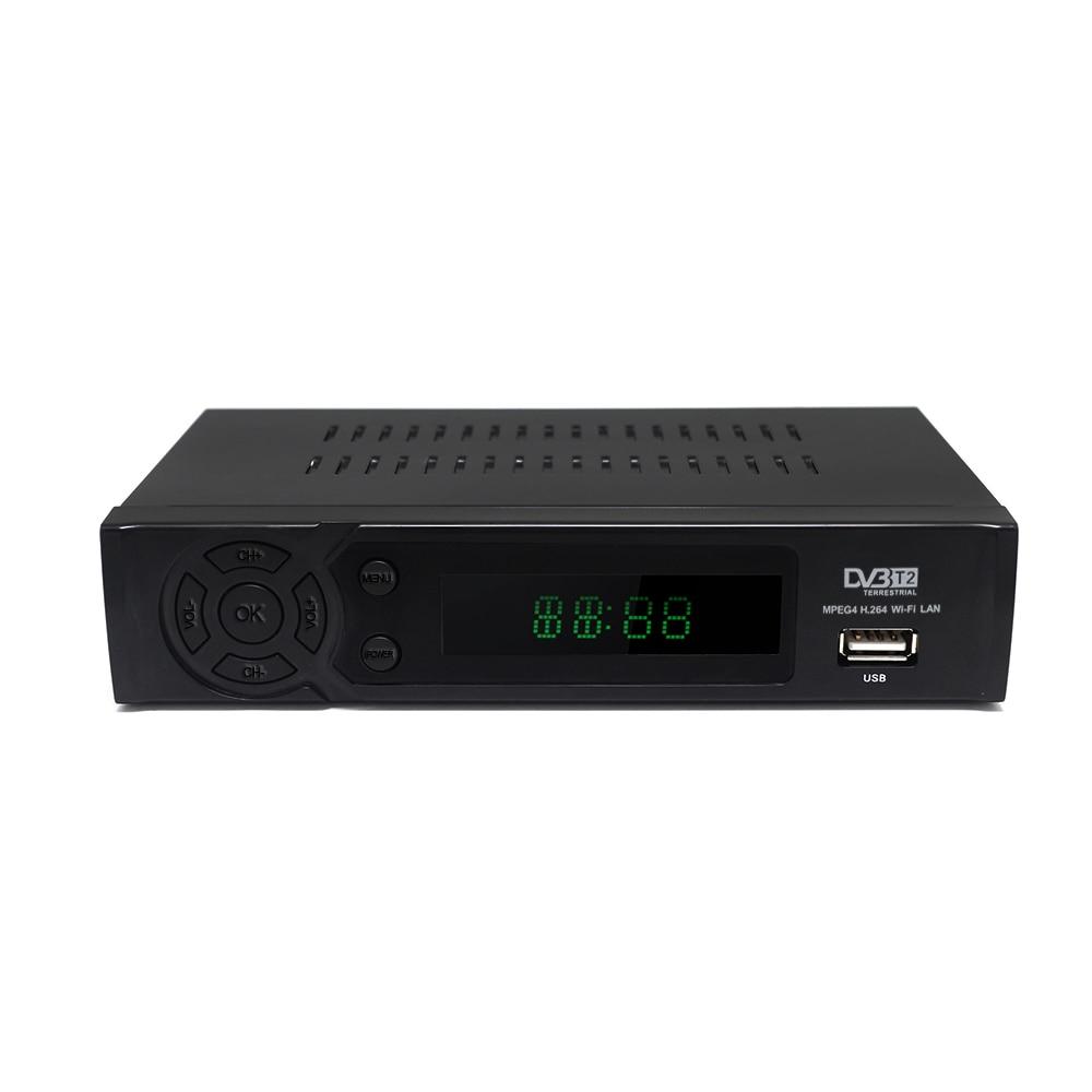 Image 3 - HD video audio TV box DVB T2 digital signal receiver set top box terrestrial digital TV receiver h.264 DVB T2 FTA Lan RJ45 WIFI-in Satellite TV Receiver from Consumer Electronics