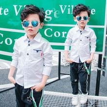 New Spring Children Clothes Boys Shirts 2 Colors Long Sleeve Quality Cotton Baby Boy Shirt For Boys Kids Causal Shirts Tops new boys shirt for kids cotton clothing 2018 fashion new baby boy plaid shirts long sleeve england school trend children clothes