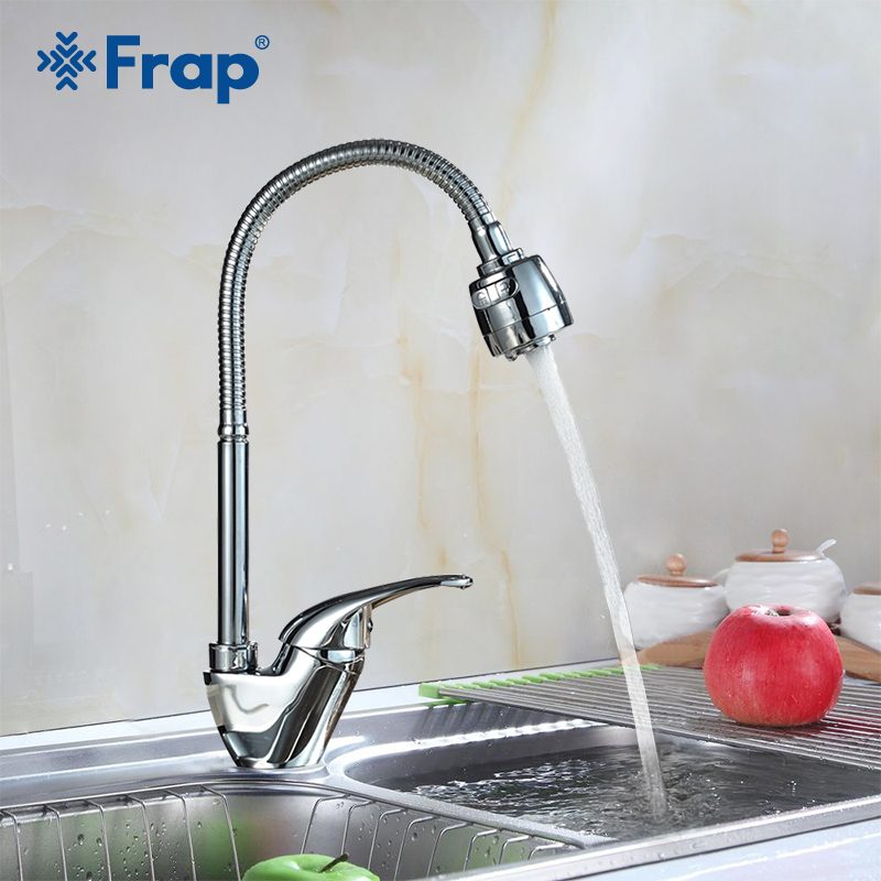 FRAP 1set Top Quality water kitchen faucet taps brass kitchen mixer water tap 360 hot and cold kitchen sink faucet taps F4303