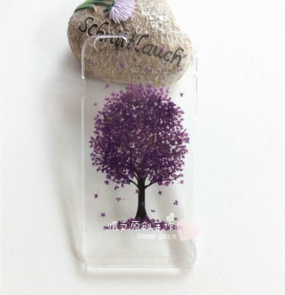 fd903fbba90d35 Original design Handmade Real Dry flowers Clear Phone cases for iPhone 6  4.7' Transparent Case Gift For Her