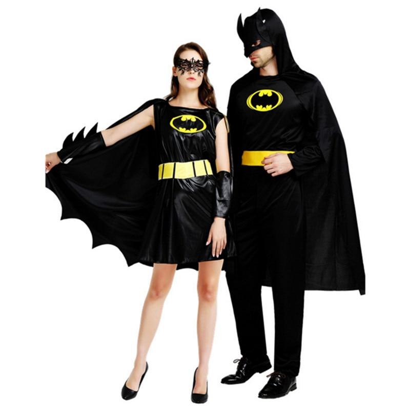 Diy Costumes For Couples 2018: 2018 New Black Batman Costume For Man Womens Super Hero