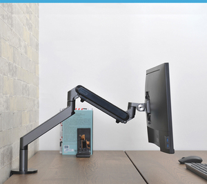 Image 3 - Hyvarwey Φ алюминиевый регулируемый держатель монитора 17 32 дюйма настольная подставка с одной ручкой и газовой пружиной