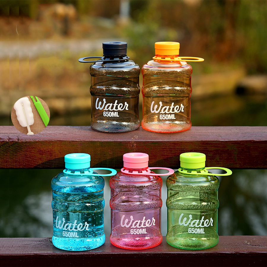 Bpa Free Frosted Plastic Drinking Bottles Water For Sports Sportflasche Portable Kids Kettle My Bottle With Lids QQB060