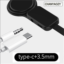 Type-C to Type C 3.5mm Aux Jack Charging Audio Adapter 2 In 1 Splitter Adapter for Samsung S10 Plus Huawei P30 Xiaomi Mi 8 6 5X цена и фото