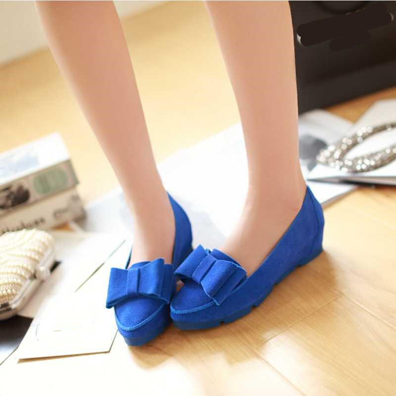 ФОТО 2015 Cute Ladies Shoes For Spring Concise Ladies Flats 3 Colors New Arrival Shoes Woman Sweet Solid Women Flats With Bowtie