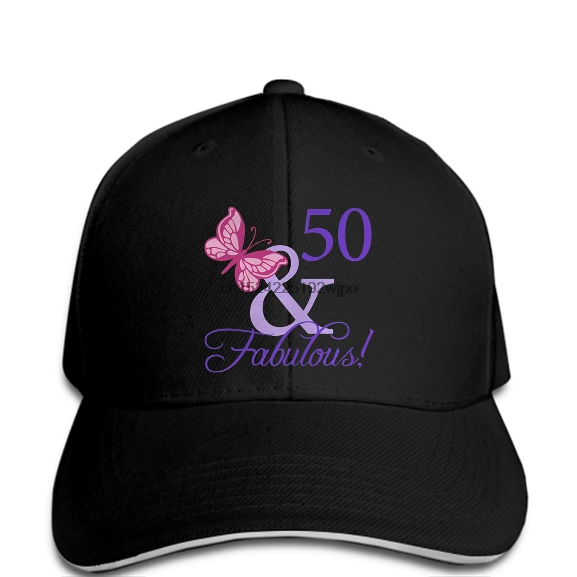 Funny Men Baseball Cap Women Novelty Fabulous 50th Birthday Cool