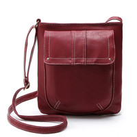 *2017 New Fashion Solid Women Leather Handbags Vintage Women Messenger Bag Ladies Shoulder Crossbody Bag For Women