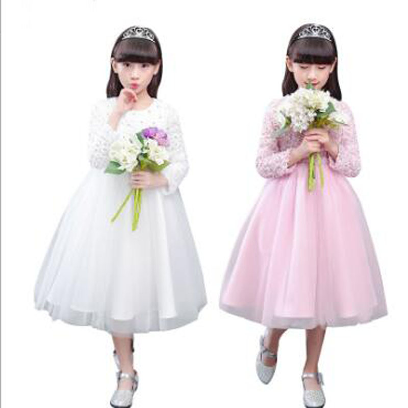 Princess flower girl dress summer 2017 tutu wedding for Summer dresses for wedding party