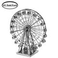 Ferris wheel model kit laser cutting 3D puzzle DIY metal building model jigsaw free shipping best gift for kids educational toys
