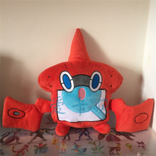 New Anime Rotom Pokedex Animal Dolls 26 CM Cartoon Plush Toys Children Soft PP Cotton Kids
