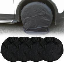 4Pcs 32นิ้วล้อยางครอบคลุมกรณียางรถกระเป๋ารถล้อสำหรับรถบรรทุกRV Camperรถพ่วงรถจัดแต่งทรงผม
