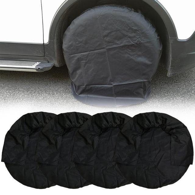 4pcs 32inch Wheel Tire Covers Case Car Tires Storage Bag Vehicle Protector For Rv Truck
