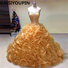BAISIYOUPIN Champagne Quinceanera Dresses 2019 Ball Gown