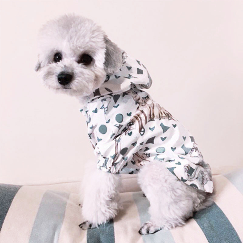 Waterproof French Bulldog Fashion Print Jacket Raincoat Pet Dog Clothes For Small Dogs Chihuahua Clothing Pug Costume BR0026