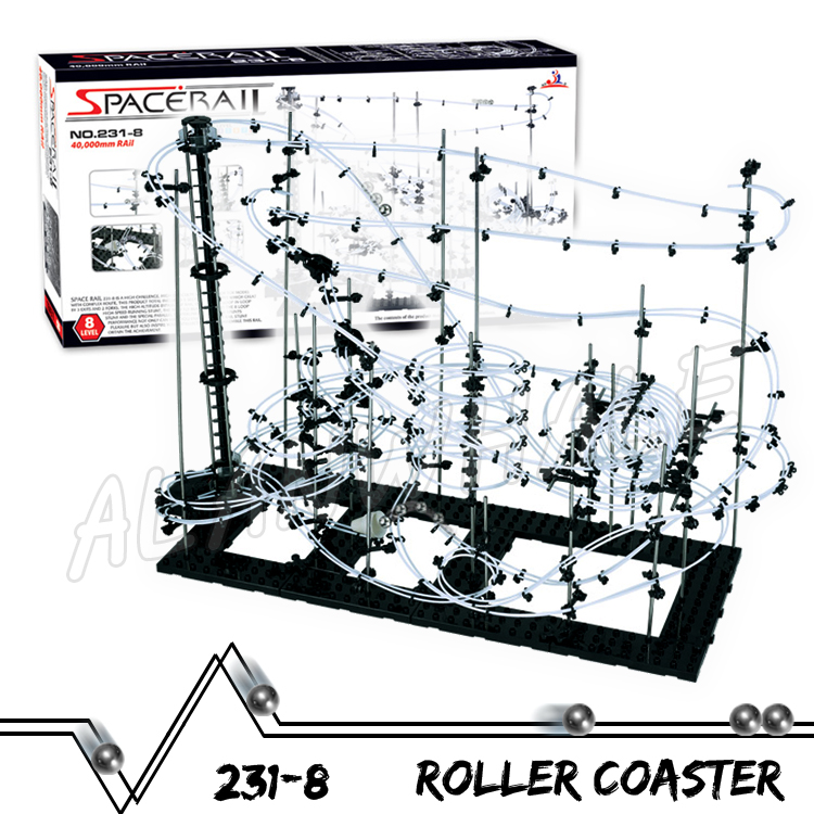 4000cm Rail High Level 8 Challenger Marble Run Roller Coaster Electric Elevator Model Building Kit Toys Rolling ball Sculpture 3000cm rail level 5 marble run night luminous glow in the dark roller coaster model building gifts maze rolling ball sculpture