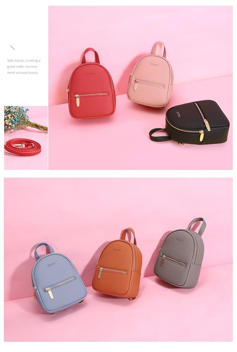 HTB193iUKeSSBuNjy0Flq6zBpVXaS WEICHEN New Designer Fashion Women Backpack Mini Soft Touch Multi-Function Small Backpack Female Ladies Shoulder Bag Girl Purse