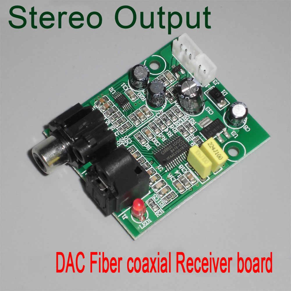 DIY DAC Digital Decoder 24bit 192khz Optical Fiber CS8416 For PC TV Amplifier