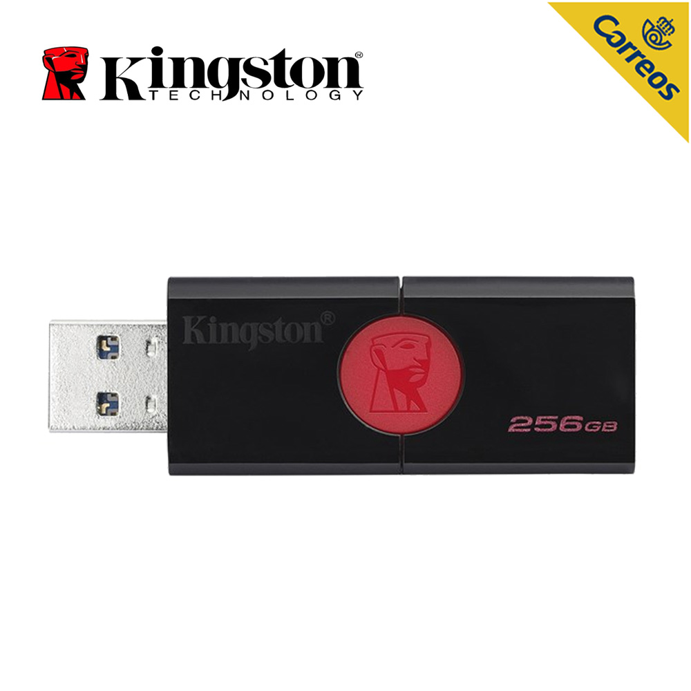 Kingston Technology DataTraveler 106, 256 GB, 3.0 (3.1 Gen 1), usb de type-Un connecteur, glisser, Noir, Rouge