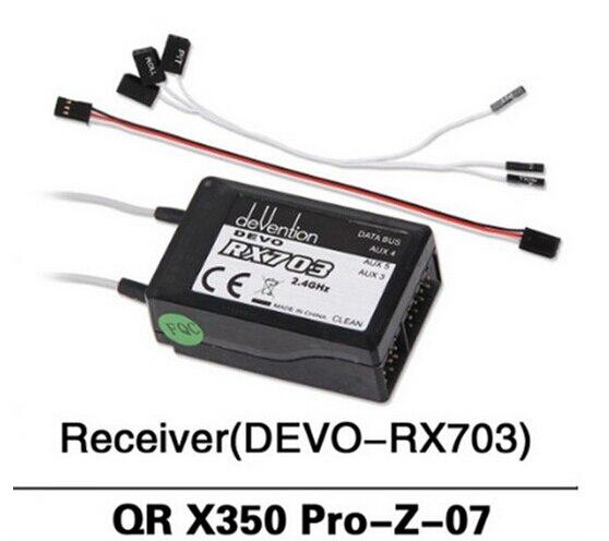 100% Original Reciver RX703  for Walkera QR X350 PRO FPV Quadcopter Spare Parts QR X350 PRO-Z-07  Free Shipping walkera qr x350 premium z 25 29 6v 3000mah lipo battery for walkera qr x350 premium helicopter f14451