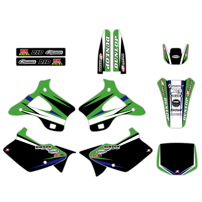 0219 New Style TEAM GRAPHICS & BACKGROUNDS DECALS STICKERS Kits for Kawasaki KX125 KX250 1994 1995 1996 1997 1998 KX 125 2500219 New Style TEAM GRAPHICS & BACKGROUNDS DECALS STICKERS Kits for Kawasaki KX125 KX250 1994 1995 1996 1997 1998 KX 125 250