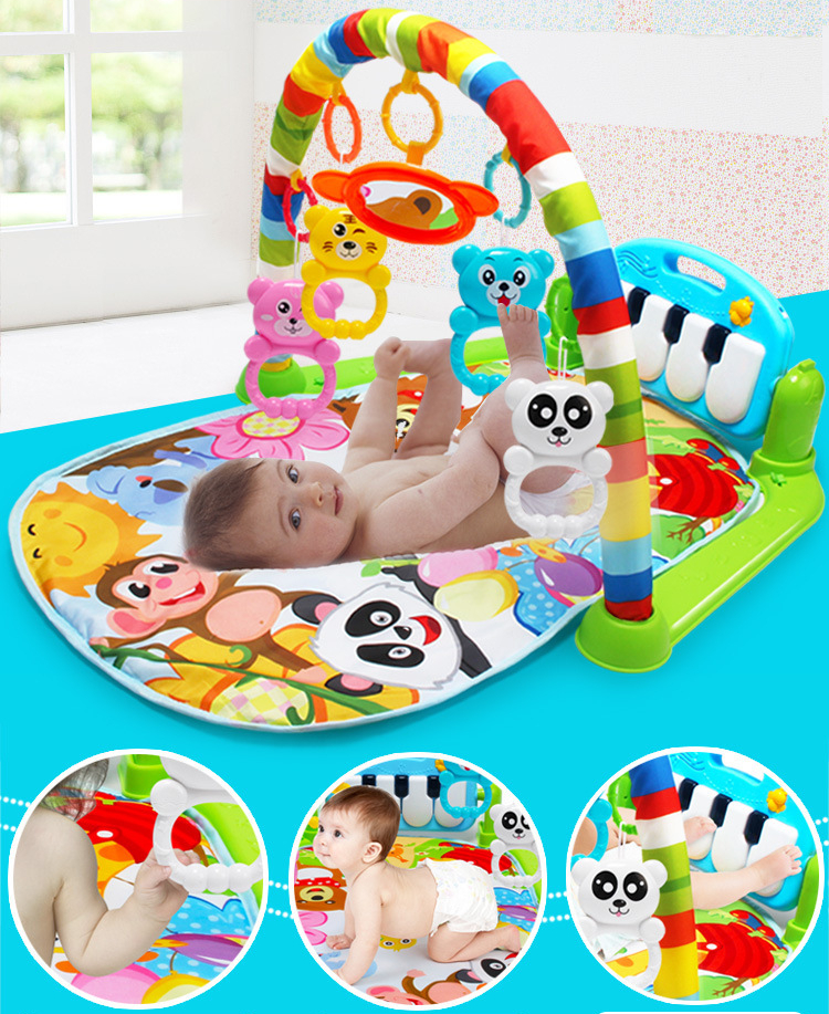 HTB193iud.R1BeNjy0Fmq6z0wVXa3 3 in 1 Baby Play Mat Rug Toys Kid Crawling Music Play Game Developing Mat with Piano Keyboard Infant Carpet Education Rack Toy