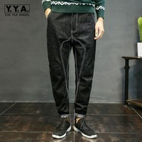 Yueyuw Mens Jeans Plus Size XS 4xl Stretch Denim Black Men S Pencil Pants Jean Casual