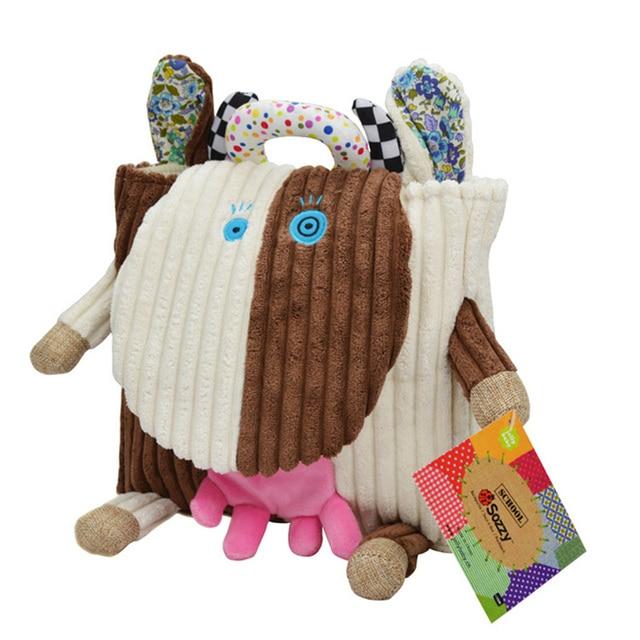 Sozzy Cute Kid Plush School Backpacks 25cm Animal Figure Bag Kid Girls Boys Gifts Toy Owl Cow Frog Monkey schoolbag