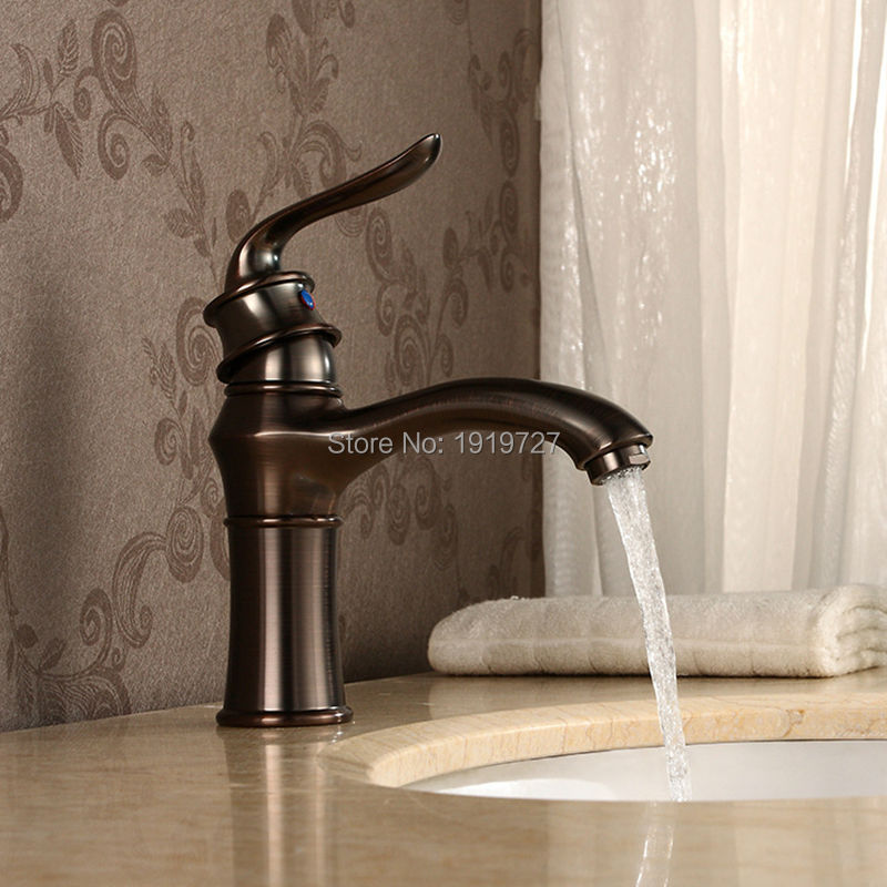 Newly Solid Brass Deck Mounted Bathroom Sink Vessel Faucet Oil Rubbed Bronze Mixer Tap Single Handle Single Hole лампа osram dulux s 9w 827 g23 компактная 4008321580696