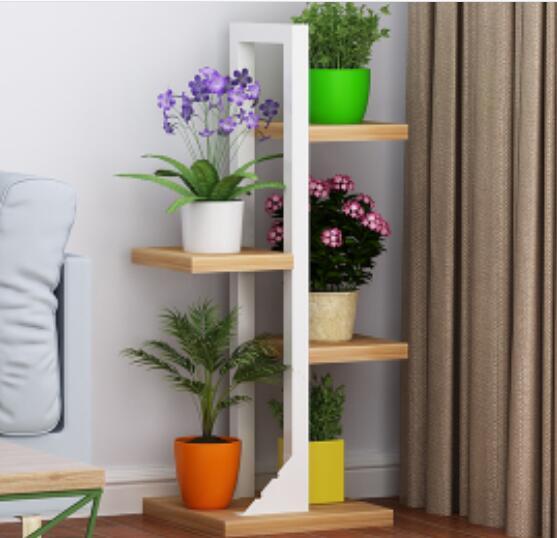 Indoor Multilayer Corner Shelf Modern Green Plant Shelf Living Room ...