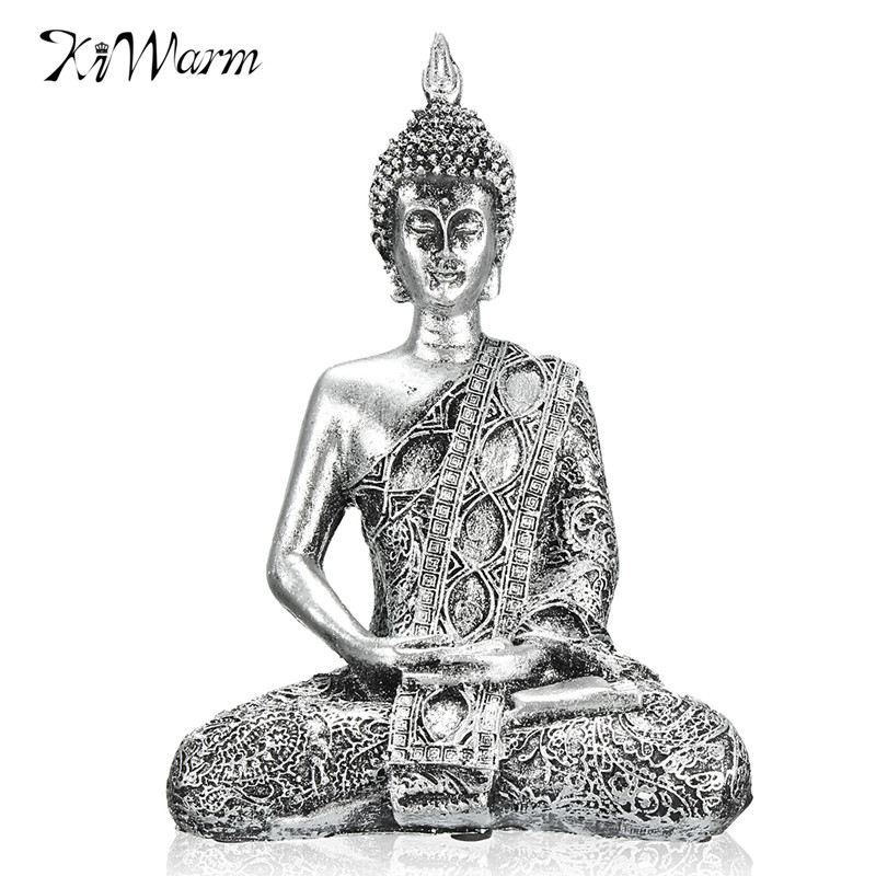 Kiwarm New 17cm Buddha Sitting Meditation Thailand Feng Shui Sculpture Buddhism Statue Budda Happiness for Home Ornaments GiftsKiwarm New 17cm Buddha Sitting Meditation Thailand Feng Shui Sculpture Buddhism Statue Budda Happiness for Home Ornaments Gifts