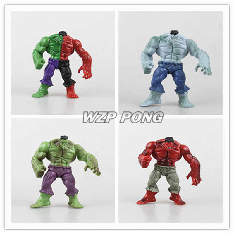 4pcs Avengers Hero The Green Man Gray Red Hulk Action Figure PVC Toys