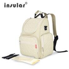 (Insular) maman sac bébé poussette sacs sac étanche grand-capacité changement de couche de maternité sac à dos bébé sac à couches