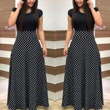 Женское винтажное длинное платье макси, женские вечерние платья с коротким рукавом и оборками, женское платье размера плюс