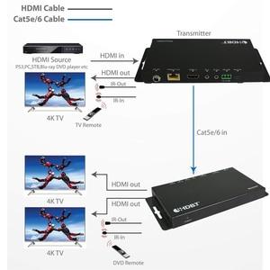 Image 2 - 새로운 4096x2160 @ 60Hz HDMI 2.0 및 HDCP 2.2 HDMI HDBaseT IR 익스텐더 70m UTP/STP Cat5e Cat6 케이블 4K HDMI POC 익스텐더 YUV 4:4:4