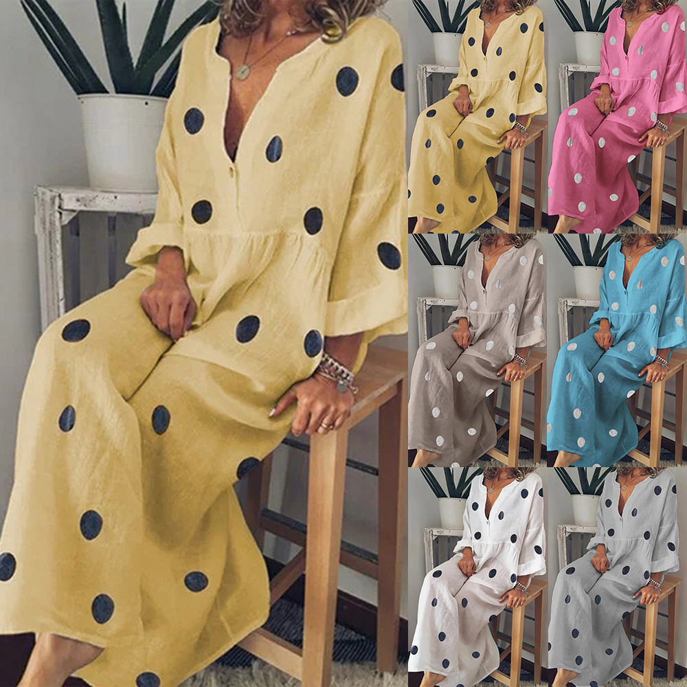 Swimsuits-Sleeve Maxi-Dress Tunic Bikini Kaftan Cover-Up Print Women Vestidos-De-Festa