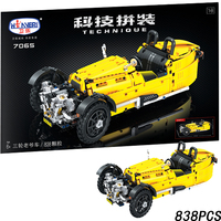 Classic Tricycle Jalopy Car 838pcs Legoings Technic MOC Vehicle Creator City Building Blocks Bricks DIY Model Toys for children