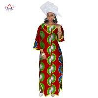 African Dresses for Women Half Sleeve Maxi Dress Africa Print Dresses Dashiki Women Bazin Rich Long Dresses Plus Size 6XL WY2569