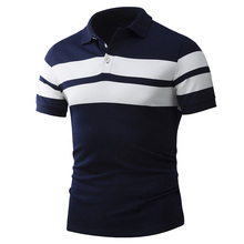 New Summer Mens Polo Shirt Typical Wide Stripe Design Cotton Material High Quality Male Slim fit Polo Shirts