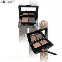 Aigomc брендовый макияж для глаз 2 цвета Пудра бровей водостойкая