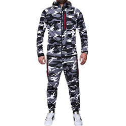 IceLion 2019 Spring Camouflage Hoodies Men Zipper Cardigan Hooded Sweatshirts Fashion Print Sportswear Men's Slim Fit Tracksuit 4