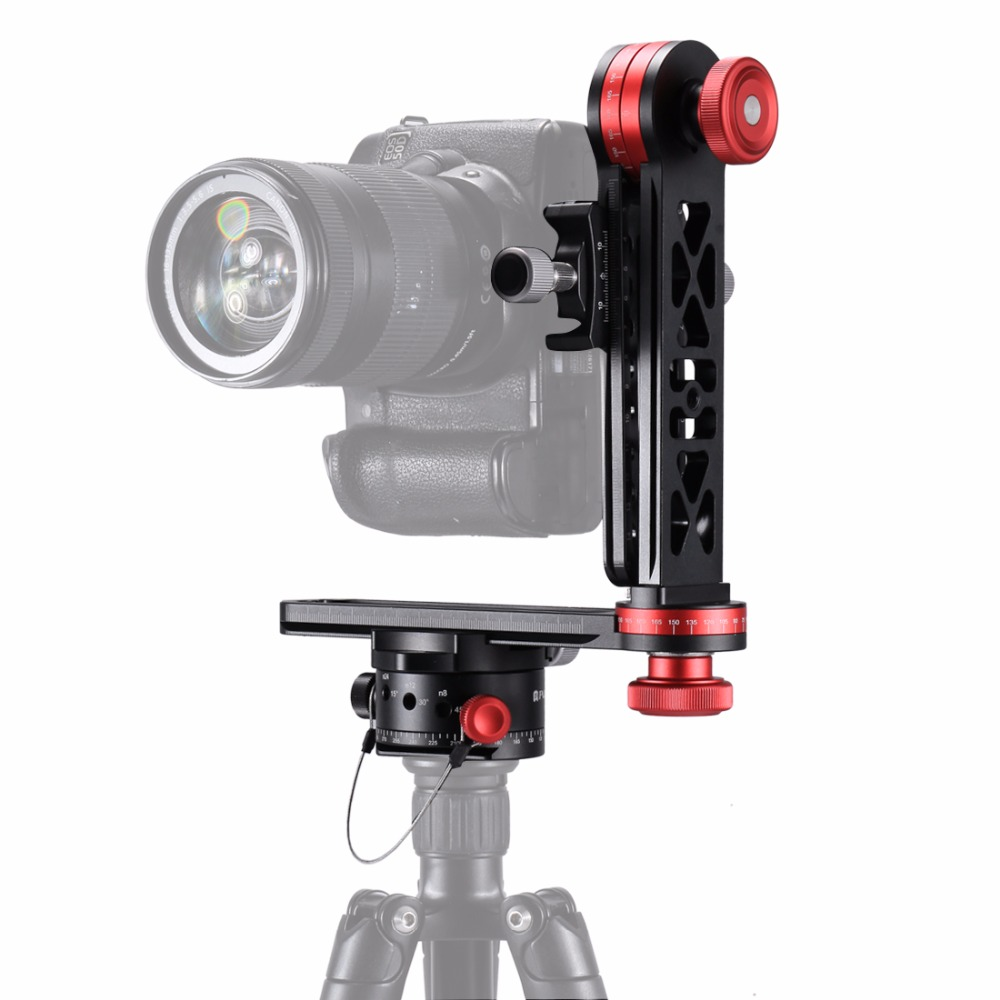 PULUZ 720 Degree Camera Panoramic Aluminum Alloy Tripod Ball Head kits &3/8 Quick Release Plate&1/4Screw Fixed Plate for DSLR