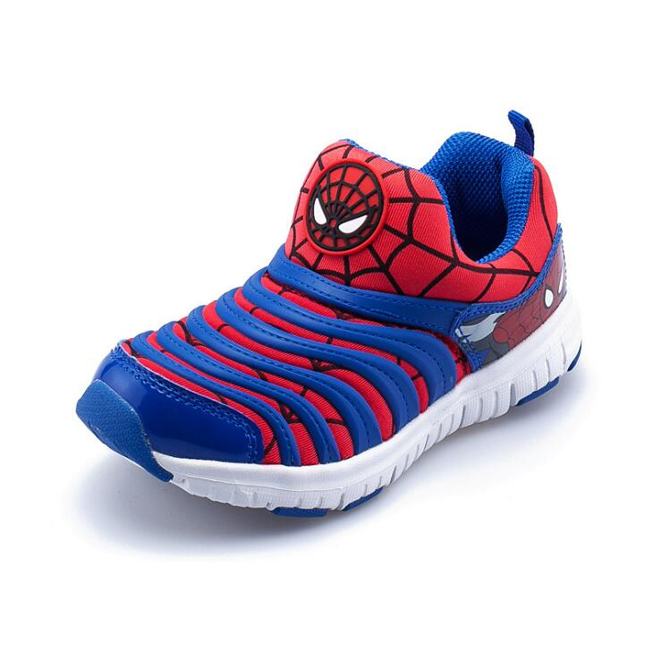 New 2019 Children Cartoon Sneakers Brand Sports Shoe For Boys Girls Spider-Man Captain America Boy Mesh Shoes Girls Shoes