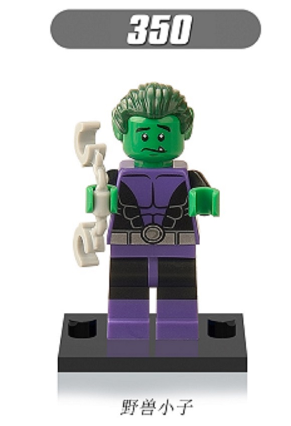 Single Sale Super Heroes Beast Boy Blue Beetle Killer Croc Bricks Assemble Action Building Blocks Children Gift Toys XH 350
