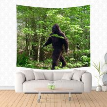 Bigfoot Printed Tapestries Wall Hanging Customized Wall Decoration Tapestry Beach Mat Home Art Decor Yoga Picnic Mat(China)