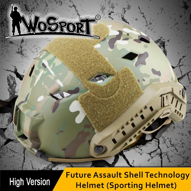 WOSPORT Tactical FAST Helmet BaseJump BJ ABS Type for Military Airsoft Paintball Army Outdoor WarGame Motorcycle Cycling Hunting tactical maritime helmet cycling helmet for airsoft paintball abs cycling helmet multicam black size m l