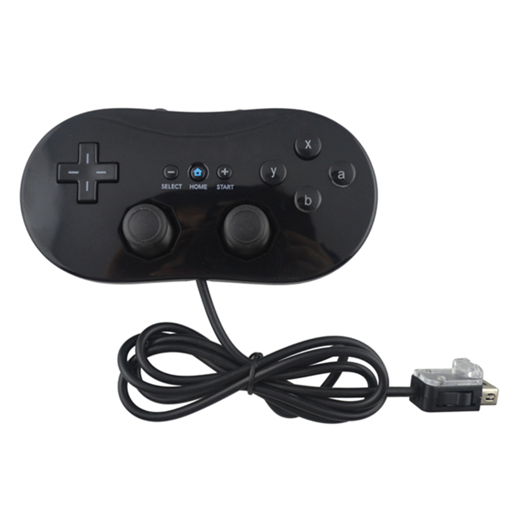 HOT Black Color Mini para Wii Wired Classic consola de juegos - Juegos y accesorios