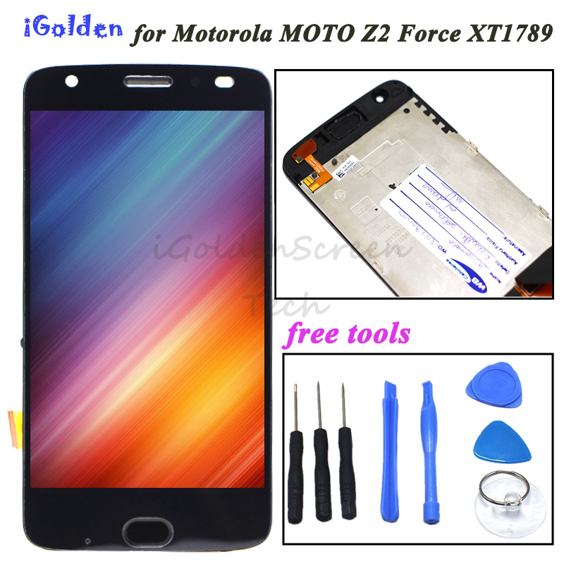 5 5 For Motorola Moto Z2 Force LCD Display Touch Screen Digitizer Assembly For Moto Z2