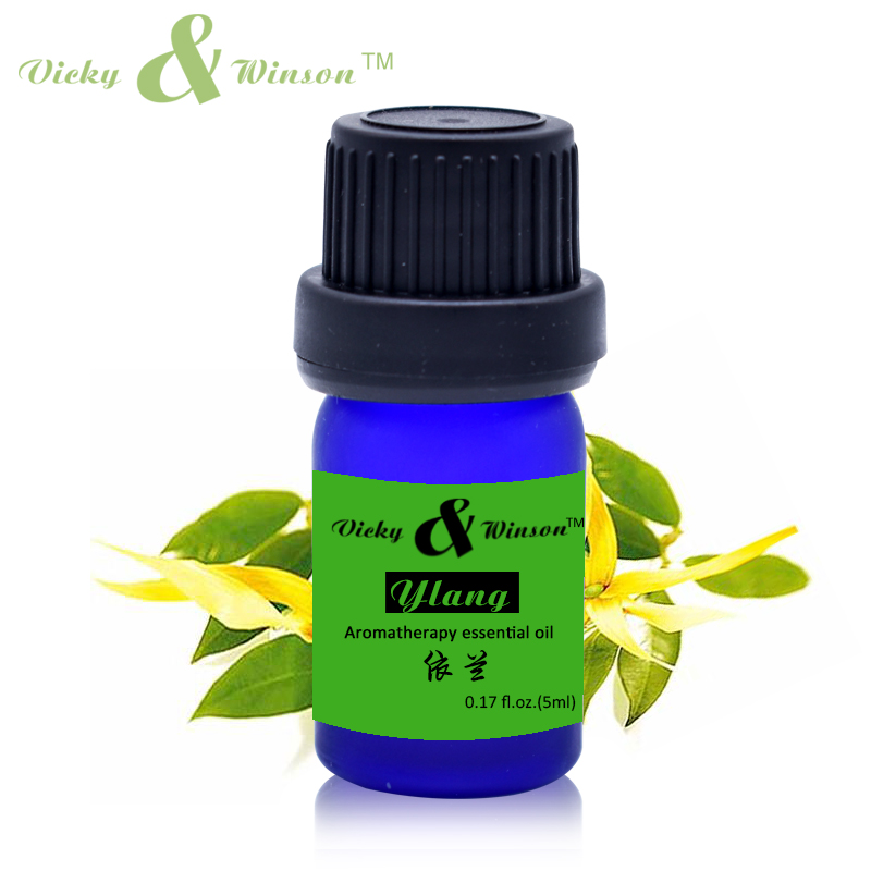 Vicky&winson Ylang Ylang Essential Oil 5ml Moisturizing Anti Aging Maintain Breast Perfume DIY VWXX512