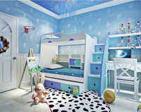 Beibehang Wallpaper Fashion Personality Nonwoven Cute Child Constellation Boy Girl Princess Bedroom Papel De Parede 3d
