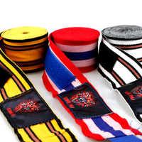 3M 5M bonne qualité coton élastique MMA handwrap kickboxing bandage main Muay thai boxe gant main protecteurs poinçon boxe bandage